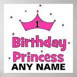 1st Birthday Princess!  with pink crown Print