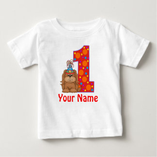 1st Birthday Puppy Personalized Shirt