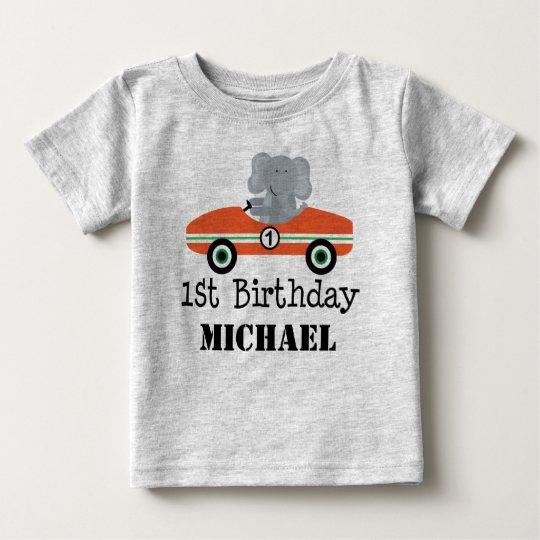 1st Birthday Race Car Personalised T-shirt