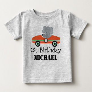 1st Birthday Race Car Personalized T-shirt