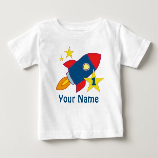 1st Birthday Rocket Personalised Birthday T-shirt