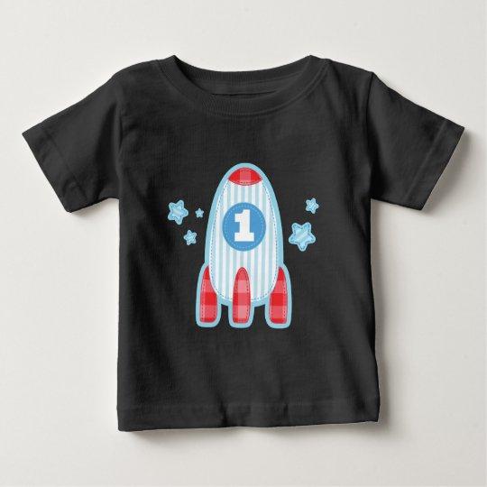 1st Birthday Rocket Ship Space T-shirt