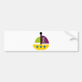 1st Birthday Sailboat Bumper Sticker