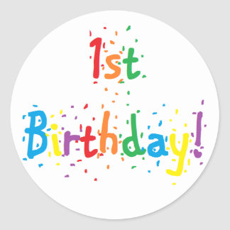 """1st Birthday"" Stickers"