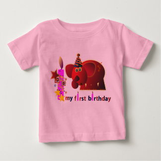 1st Birthday T-shirts & Shirts: Red elephant