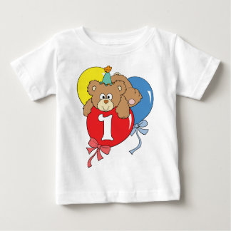 1st Birthday Teddy Bear (2) Baby T-Shirt