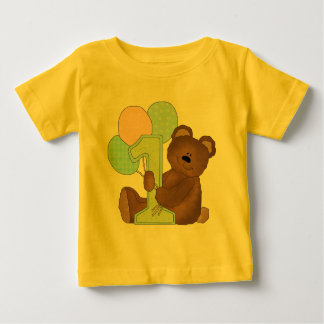1st Birthday Teddy Bear (3) Baby T-Shirt