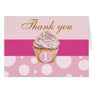 1st Birthday Thank You card