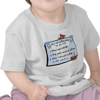 1st Birthday To Do s Blue Tee Shirts
