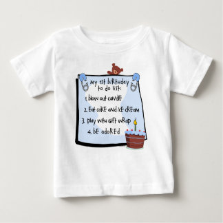 1st Birthday To Do's Blue Baby T-Shirt
