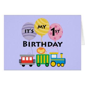 1st Birthday Train Birthday Greeting Card