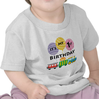 1st Birthday Train Birthday T Shirts