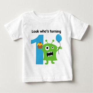 1st Birthday Tshirt Cute Monster
