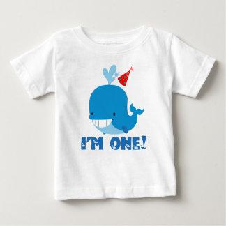 1st Birthday Whale Tshirts