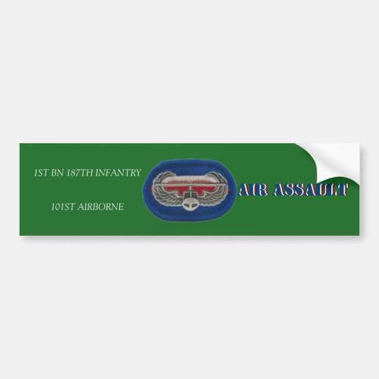 1ST BN 187TH INFANTRY 101ST ABN BUMPER STICKER