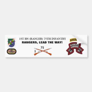 1st Bn RANGER 75TH INFANTRY Bumper Sticker