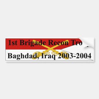 1st Brigade Recon Troop - Iraq - Bumper Sticker