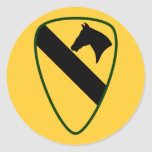 1st Calvary Division Round Stickers