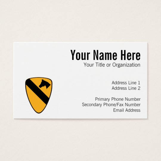 1st Cav Patch Business Card