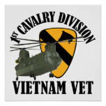 1st Cav Vietnam Vet - CH-47 Posters