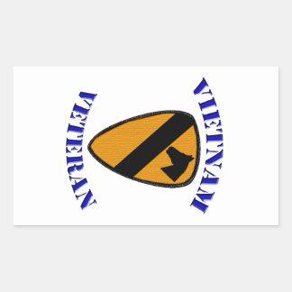 1st Cav Vietnam Veteran Rectangular Sticker
