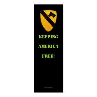 1st cavalry air cav war  veterans  bookmarker business card template
