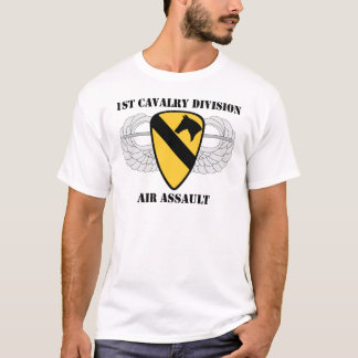 1st Cavalry Division Air Assault - With Text T-Shirt