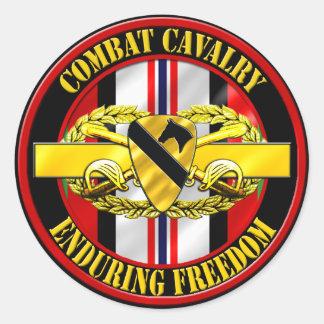 1st Cavalry Division Cavalry Scout OEF Round Sticker