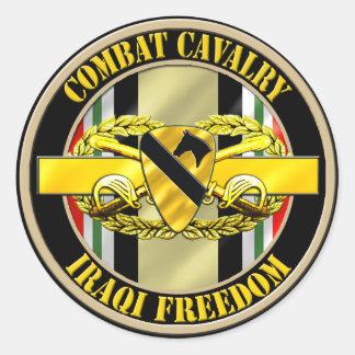 1st Cavalry Division Cavalry Scout OIF Round Sticker