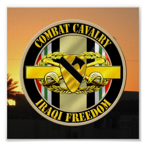 1st cavalry ision cavalry scout oif veteran poster zazzle
