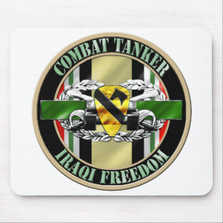 1st Cavalry Division Combat Tanker 19K OIF Mouse Pad