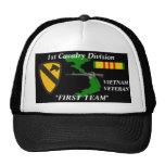 "1st Cavalry Division""First Team""Vietnam Ball Caps Hats"