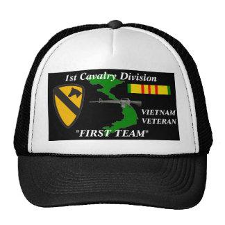 "1st Cavalry Division""First Team""Vietnam Ball Caps Hats"