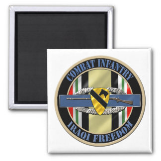 1st Cavalry Division Infantry OIF Square Magnet