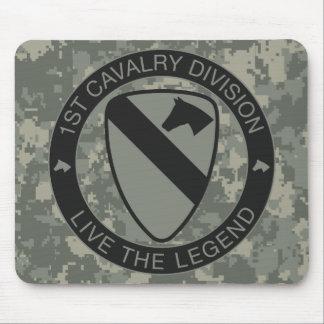1st Cavalry Division Mousepad ACU
