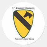 1st Cavalry Division Round Sticker