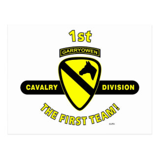 "1ST CAVALRY DIVISION ""THE FIRST TEAM"" POST CARD"