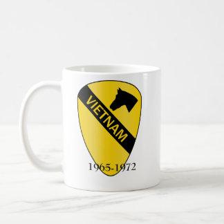 1st Cavalry Division VIETNAM, 1965-1972 Basic White Mug