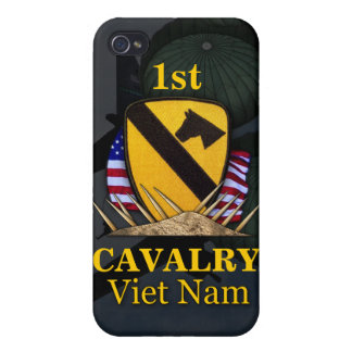 1st cavalry division vietnam vets i case for iPhone 4