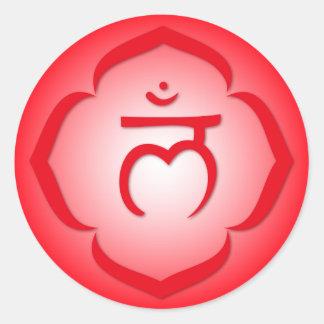 1st Chakra - Muladhara Round Sticker