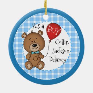 1st Child New Baby Boy Keepsake Christmas Gift Christmas Ornament