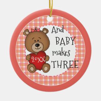 1st Child New Baby Girl Keepsake Christmas Gift Christmas Ornament