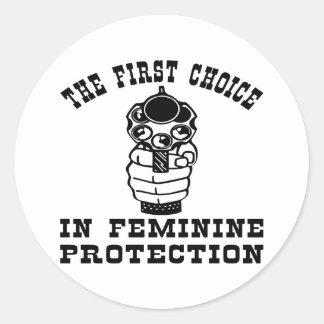 1st Choice In Feminie Protection, A Gun Round Sticker