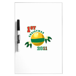1st Christmas 2011 Dry-Erase Boards