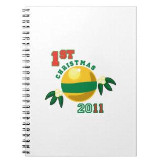 1st Christmas 2011 Spiral Notebooks