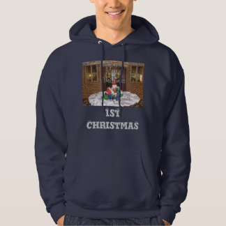 1st Christmas away from home Inspired Cool ArtText Hoodie