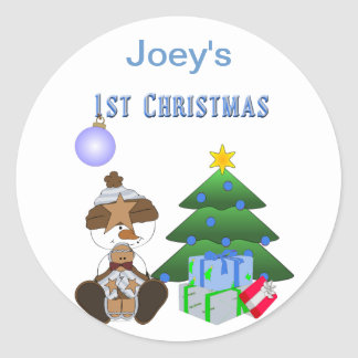 1st Christmas (Boy) Holiday Stickers
