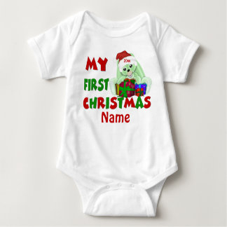 1st Christmas Bunny Personalized T-Shirt