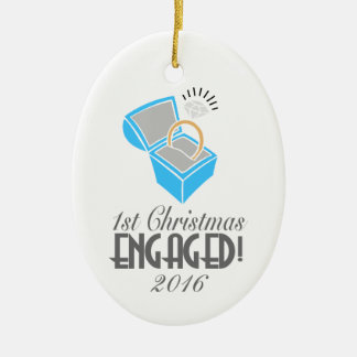 1st Christmas Engaged Ornament 2016