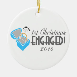 1st Christmas Engaged Ornament Dated